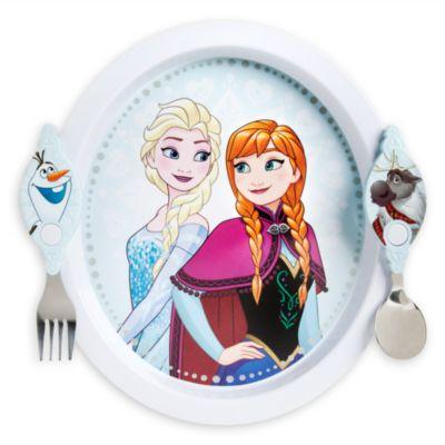 Juego de plato y cubiertos de Frozen