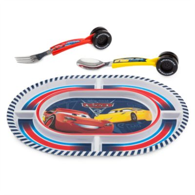 Disney Pixar Cars 3 Plate and Cutlery Set