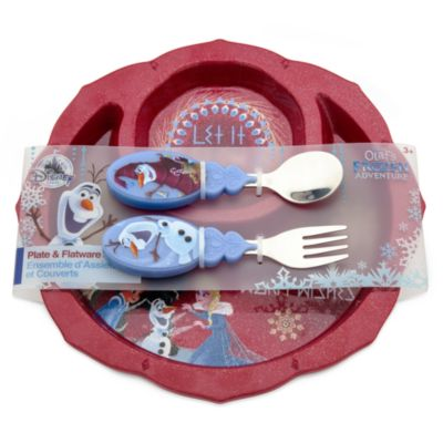 Olaf Plate and Flatware Set, Olaf's Frozen Adventure