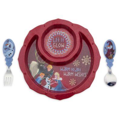 Set piatto e posate Olaf, Frozen - Le avventure di Olaf