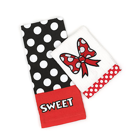 Minnie Mouse Tea Towels, Set of Two