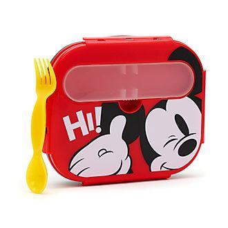 Juego fiambrera con cubiertos Mickey Mouse
