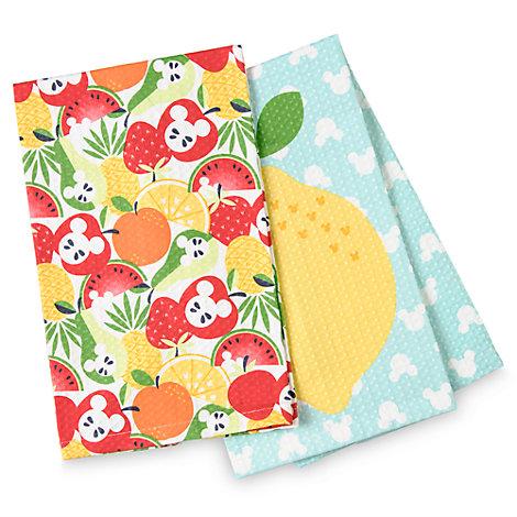 Lot de 2torchons Mickey Mouse Summer Fun