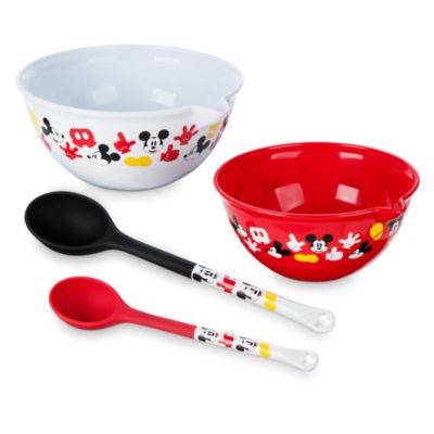 Mickey Mouse Mixing Bowl and Spoon Set