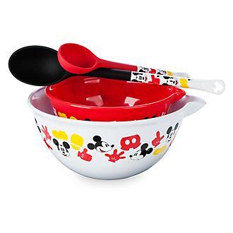 Conjunto de cuchara y bol para mezclar de Mickey Mouse, Disney Store