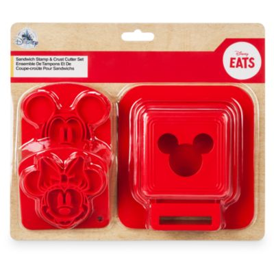 Mickey and Minnie Sandwich Stamp and Crust Cutter Set