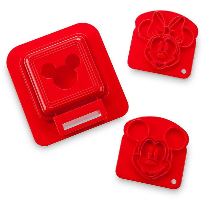 Disney Store Mickey and Minnie Sandwich Stamp and Crust Cutter Set