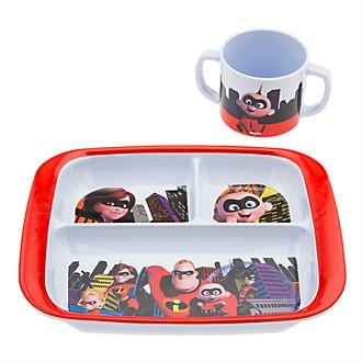 Die Unglaublichen2 - The Incredibles2 - Set aus Teller mit Unterteilungen und Becher
