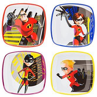 Die Unglaublichen2 - The Incredibles2 - Teller, 4er-Set