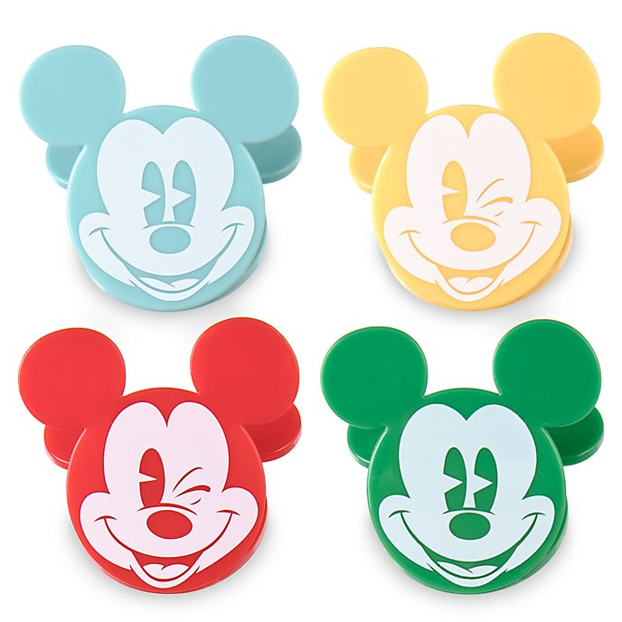 Lot de 4 clips Mickey Mouse, Summer Fun