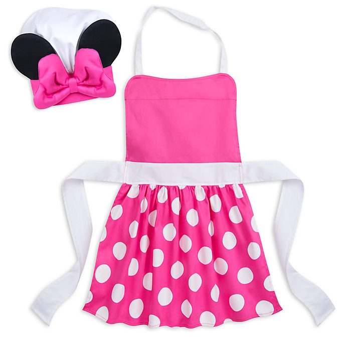 Disney Store Minnie Mouse Apron and Chef Hat Set For Kids