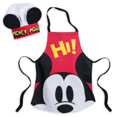 Ensemble toque et tablier Mickey Mouse pour enfants