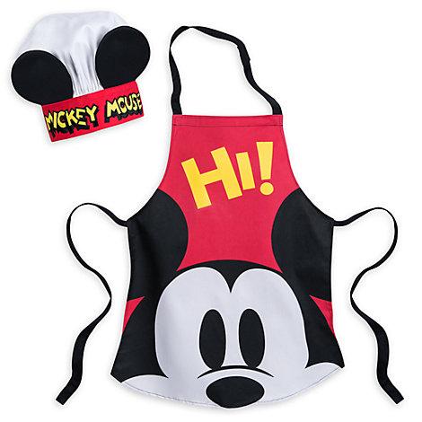 Conjunto infantil delantal y gorro de chef Mickey Mouse