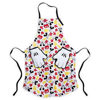 Disney Store Mickey Mouse Apron and Oven Mitts Set For Adults