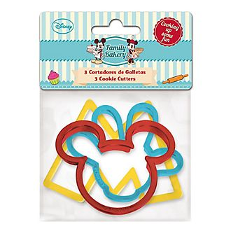 Mickey and Minnie Mouse Cookie Cutters, Set of 3