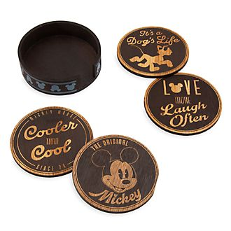Disney Store Lot de 4 sous-verre Mickey Mouse Fall Fun