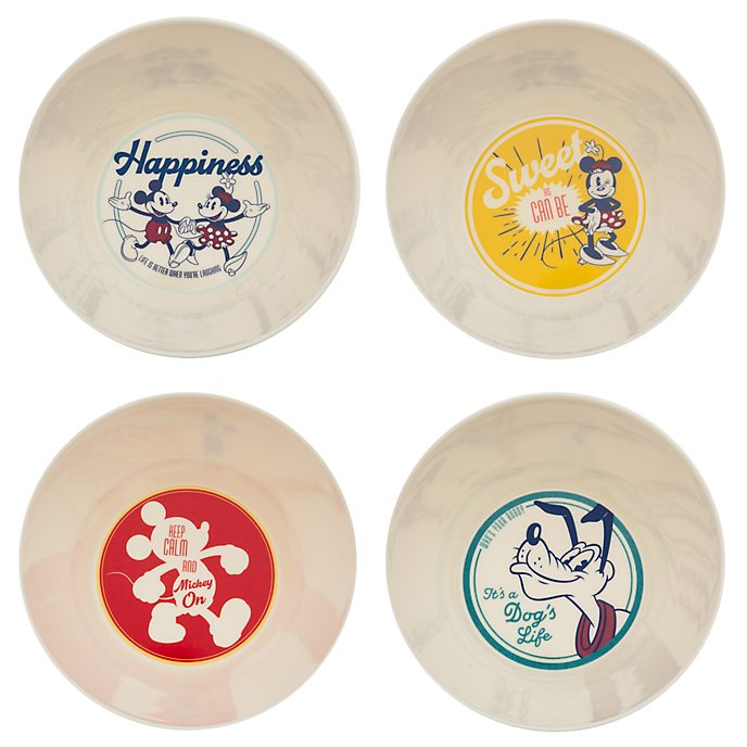 Disney Store Mickey Mouse Fall Fun Bowls, Set of 4