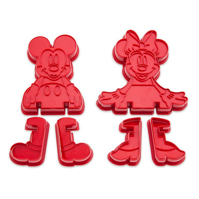 Disney Store Mickey and Minnie 3D Cookie Cutter Set
