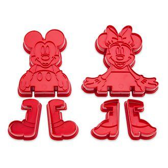 Juego cortagalletas en relieve Mickey y Minnie, Disney Store