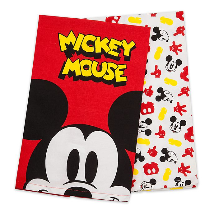 Disney Store Mickey Mouse Tea Towels, Set of 2
