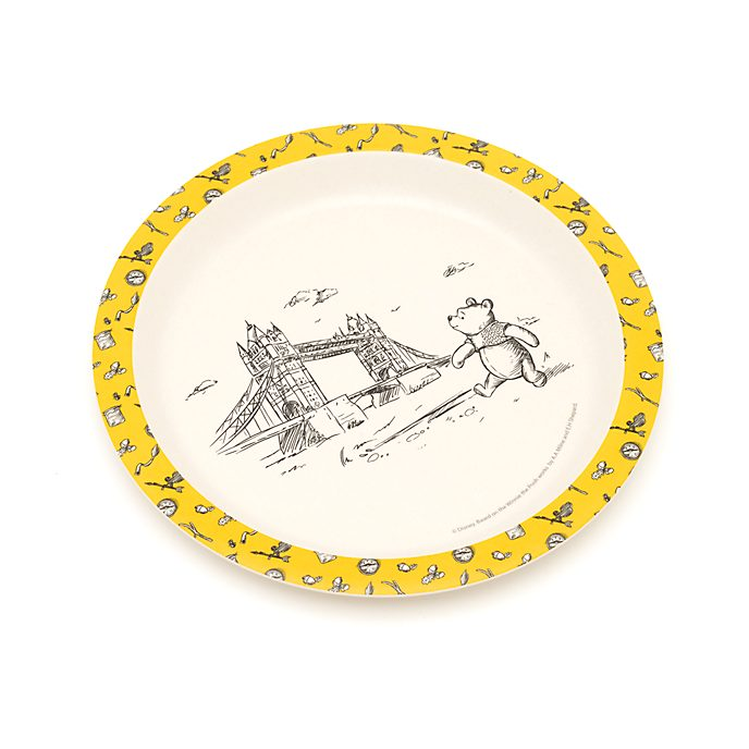 Disney Store Winnie the Pooh Plate, Christopher Robin