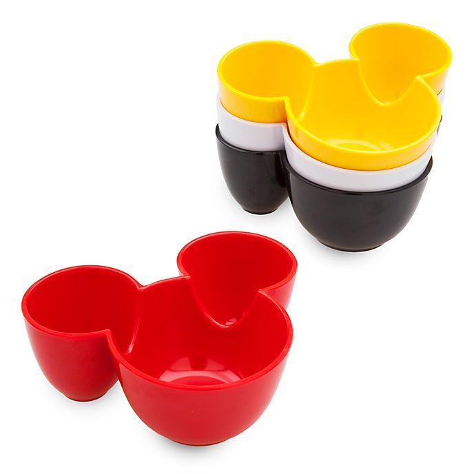 Disney Store Lot de 4bols de cuisine Mickey Mouse, collection Disney Eats