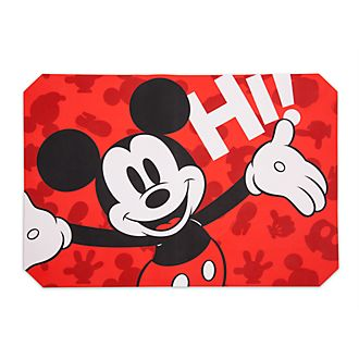 Disney Store Tapis de cuisson Mickey Mouse antiadhésif en silicone, collection Disney Eats