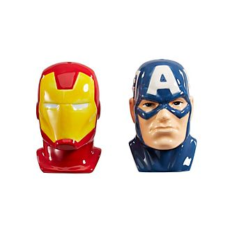 Set para sal y pimienta Iron Man y Capitán América, Funko