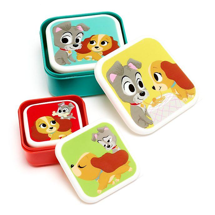 Disney Store Boîtes à pique-nique La Belle et le Clochard, collection Furrytale Friends