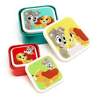 Disney Store Lady and the Tramp Furrytale Friends Snack Box Set