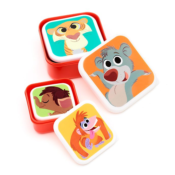 Disney Store Furrytale Friends Food Storage Containers, Set of 4