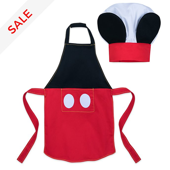 Disney Store Mickey Mouse Disney Eats Apron and Chef Hat Set For Kids