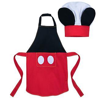 Conjunto infantil delantal y gorro de chef Mickey Mouse, disney Eats, Disney Store
