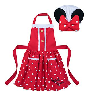 Disney Store Minnie Mouse Disney Eats Apron and Chef Hat Set For Kids