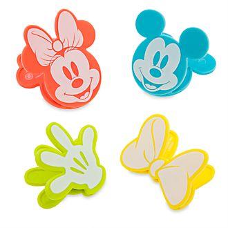 Disney Eats Topolino e Minni Disney Store, 4 mollette per sacchetti