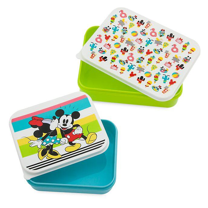 Disney Store Lot de 2récipients alimentaires Mickey et Minnie, Disney Eats