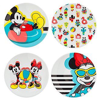 Disney Store Mickey and Minnie Disney Eats Plates, Set of 4