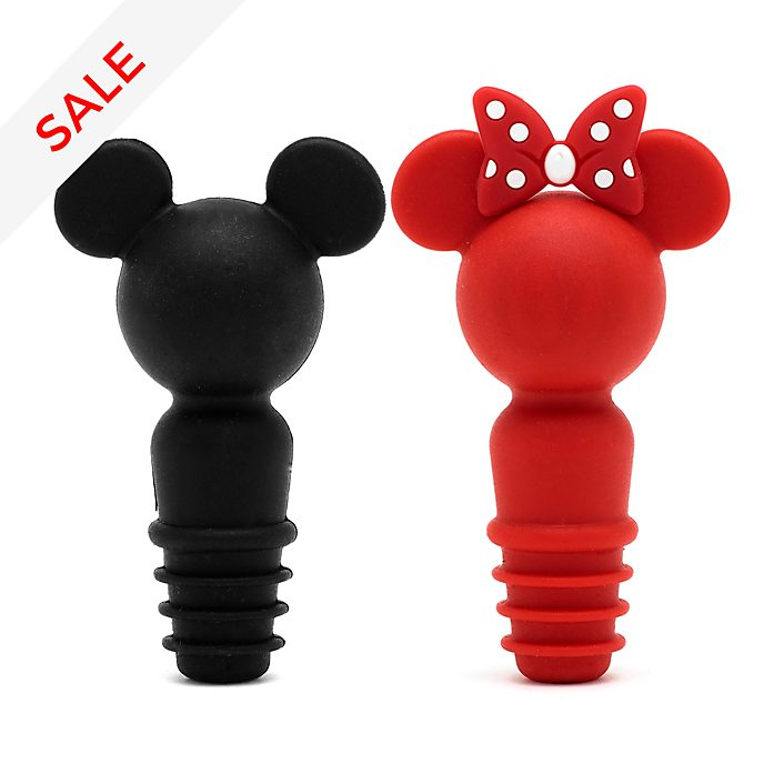 Disney Store Mickey and Minnie Disney Eats Bottle Stoppers, Set of 2