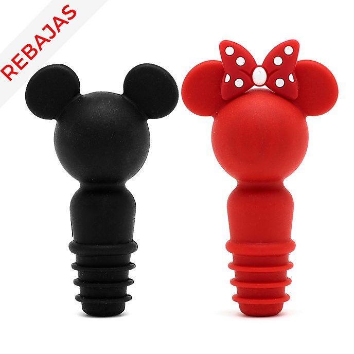 Tapones para botellas Mickey y Minnie, Disney Eats, Disney Store (set de 2unidades)