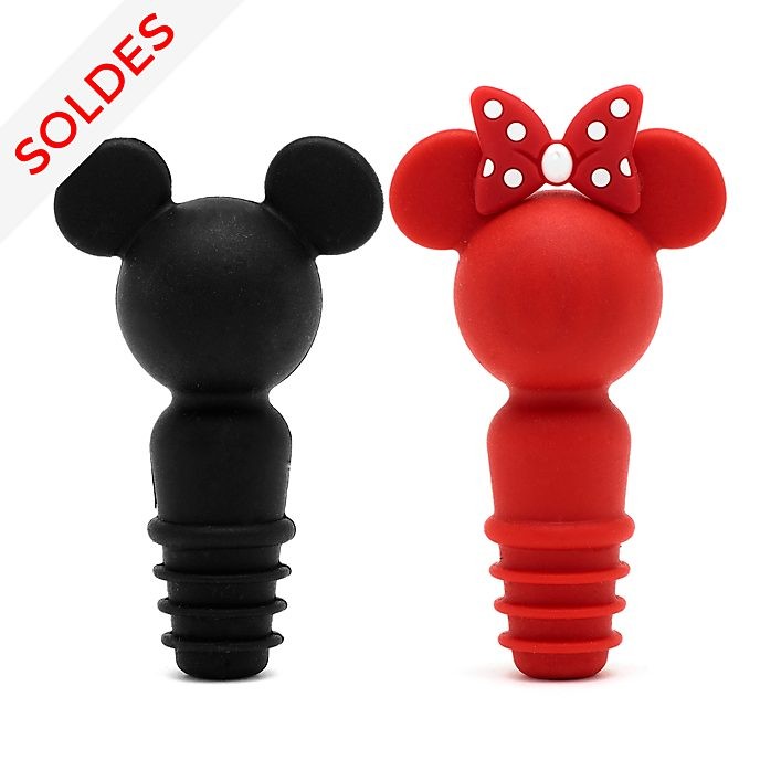 Disney Store Lot de 2 bouchons à vin Mickey et Minnie, collection Disney Eats