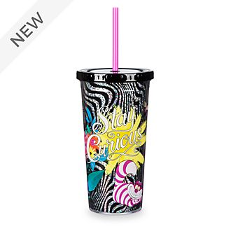 Disney Store Alice in Wonderland Straw Tumbler