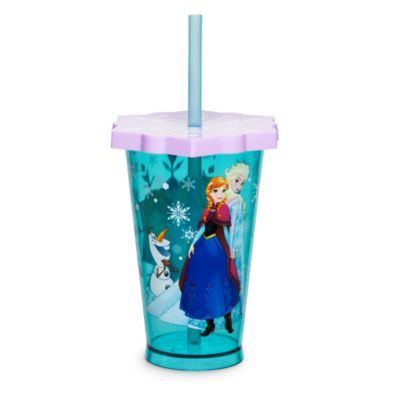 Frozen Snowflakes Tumbler With Straw