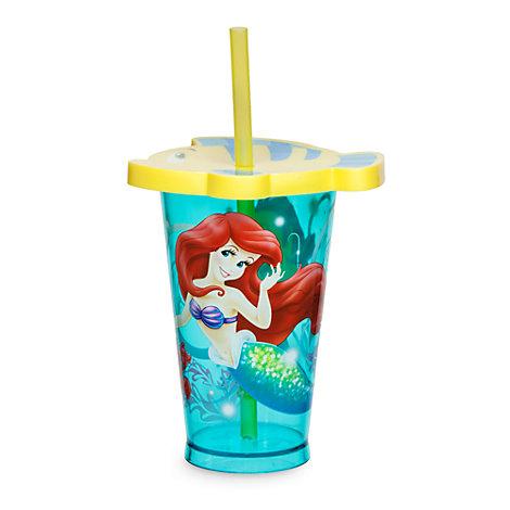 Vaso con pajita Ariel