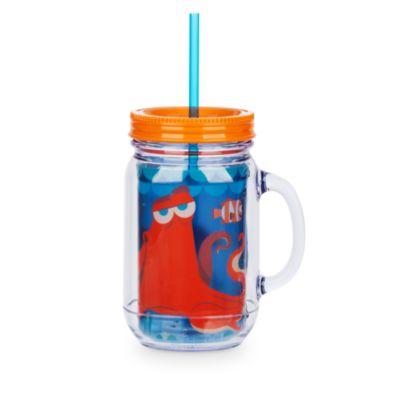 Bicchiere grande stile barattolo Alla ricerca di Dory con cannuccia