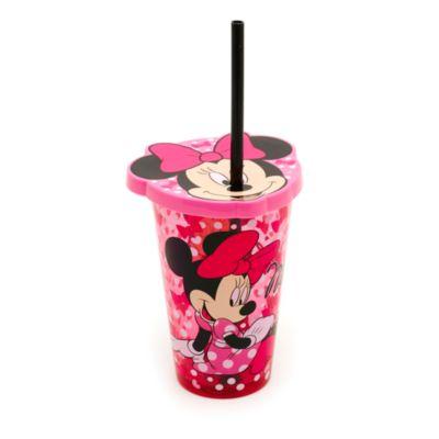 Gobelet fantaisie Minnie Mouse avec paille