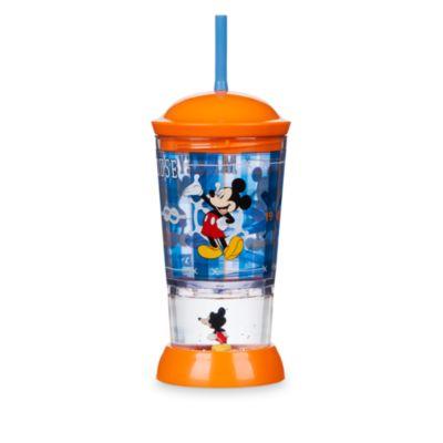 Micky Maus und Pluto - Becher mit Schneekugel