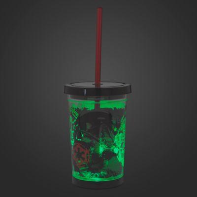 Bicchiere che si illumina con cannuccia Death Trooper, Rogue One: A Star Wars Story
