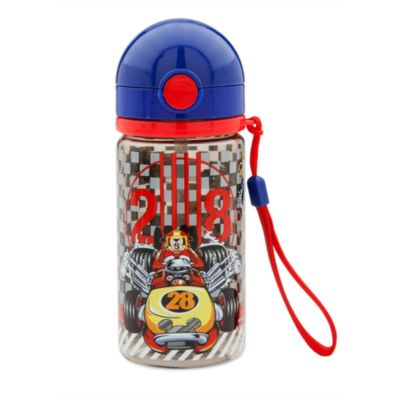 Botella con recipiente para tentempiés Mickey: Aventuras sobre ruedas