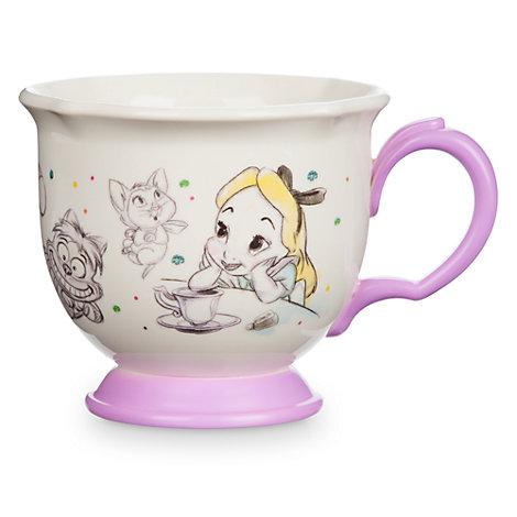 Taza infantil de té Alicia en el País de las Maravillas, colección Disney Animators