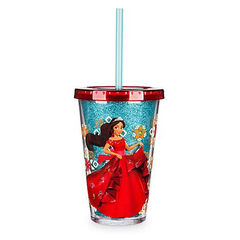 Bicchiere con cannuccia Elena di Avalor